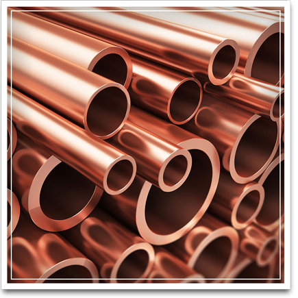 Picture of copper pipes